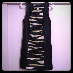Kensie black dress w zebra pattern